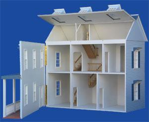 Stratford Dollhouse Kit 9 Room 2 Storey Plus Attic Stratford Doll